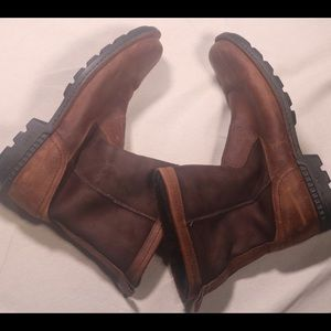 Men's Leather Fur Lined UGG Boots
